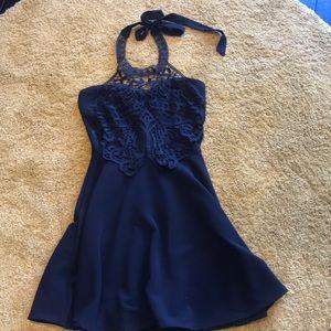 Charlotte Russe Black halter dress